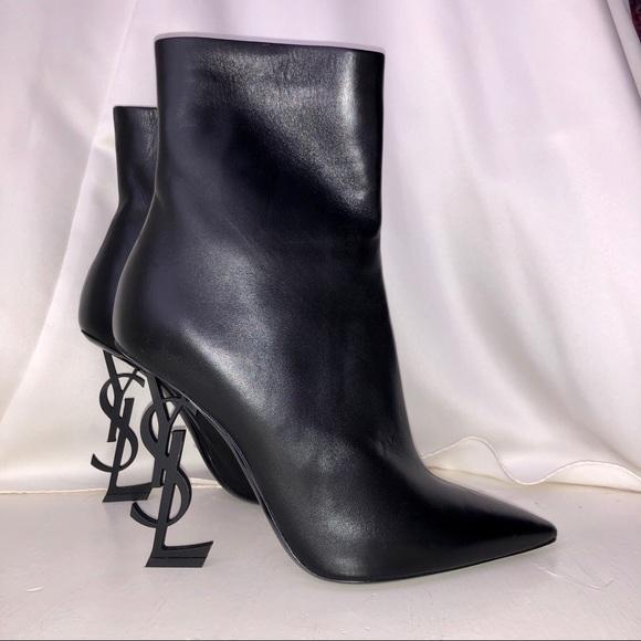19312fc326b Yves Saint Laurent Shoes | Opium Leather Booties | Poshmark